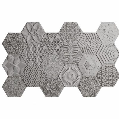 PANEL PIEDRA CEMENTO HEXAGONAL